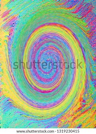 A hipnotic spin. A colored texture background. An abstract texture
