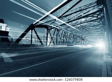 A historic bridge at Shanghai bund night #126079808