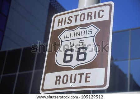 A historic route 66 sign