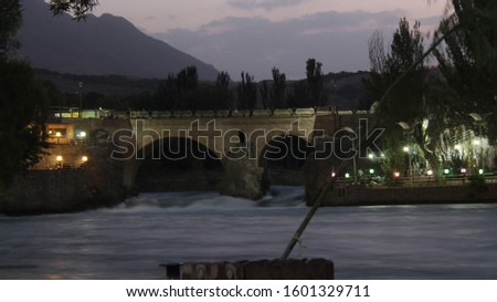 a historical bridge of zamankhan remained from savafid dynasty