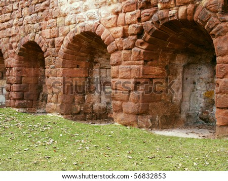 A historical wall from northern parts of Great Britain