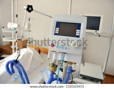 A hospital bed waiting the next patient. - Shutterstock ID 110163455