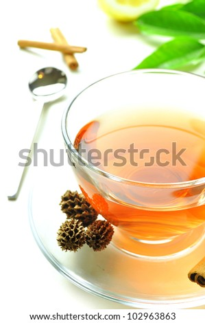 a hot cup of tea