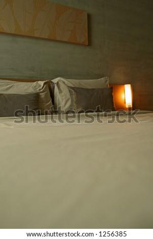 a hotel bedroom