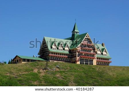 A Hotel in waterton lakes national park, alberta, canada