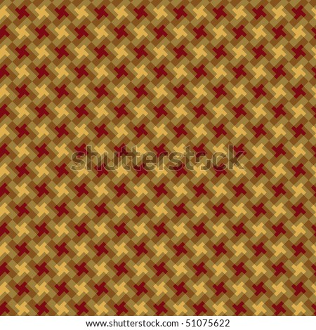A houndstooth pattern in red and yellow.
