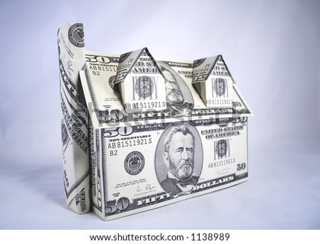 A house made of money,dollars