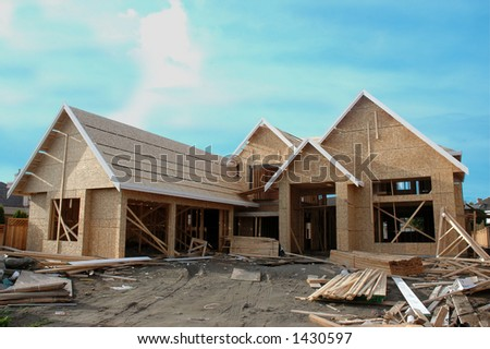 A house under construction