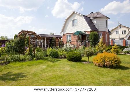 A house with a garden