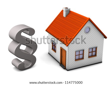A house with paragraph on the white background.