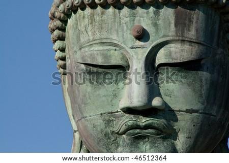 a huge buddha in japan