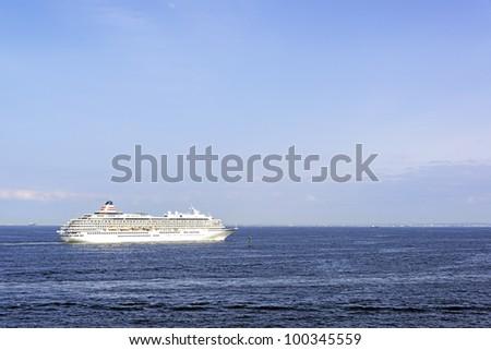 A huge luxury cruise ship
