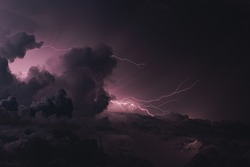 A huge storm in Maldives brightens up the night sky with a beautiful show of lightning