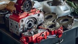 A Hydraulic Hydrostatic Piston Pump Rotating Group Service