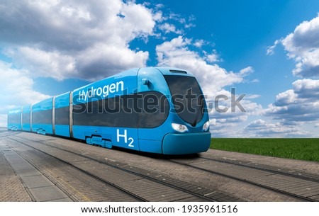 A hydrogen fuel cell train concept ストックフォト ©
