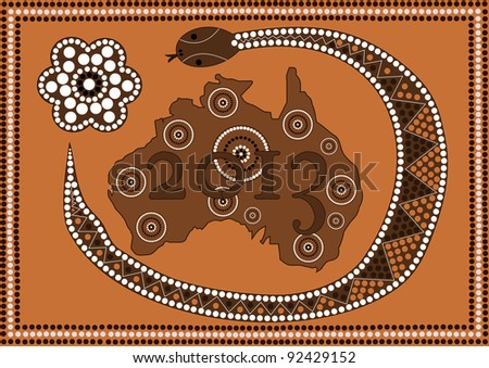 A illustration based on aboriginal style of dot painting depicting 2013 Happy New Year - Australia