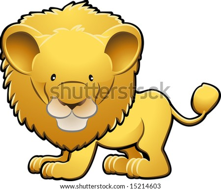 A  illustration of a cute lion