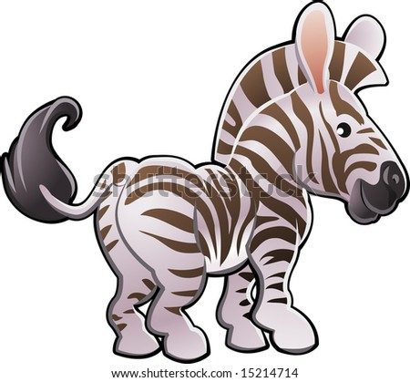 A  illustration of a cute zebra