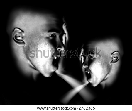 A image of a pair of men in terrible expressive sorrow. Or they could have a headpain.