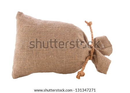 a image of burlap sack the tied