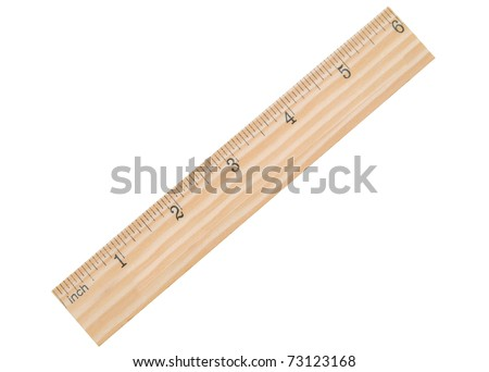 3 6 inches on ruler. stock photo : A 6 inch school