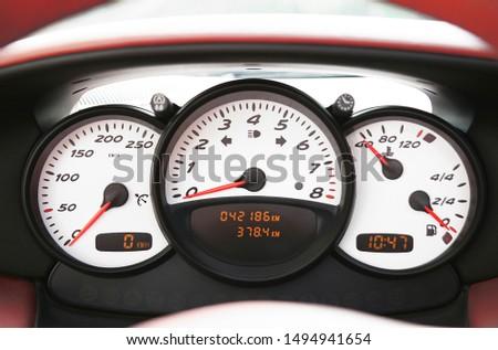 a instrumentation of a sports car #1494941654