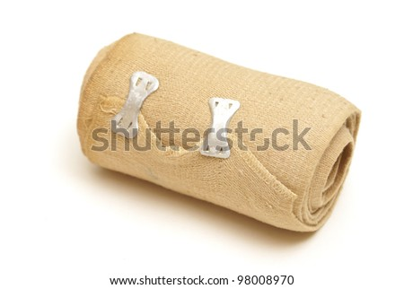 A isolated shot of a tension bandage.