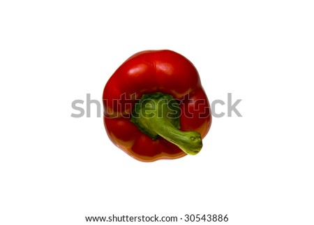 A isolated tastey red paprika