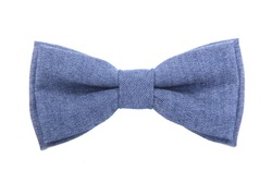 A jeans bow-tie isolated on white background