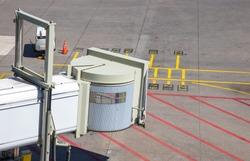 A jetway / aerobridge at Schiphol Airport
