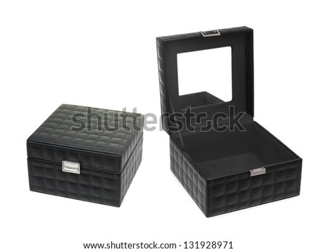 A jewellery box isolated against a white background