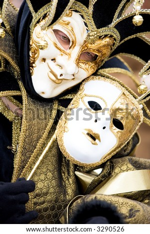 A joker at the Venice carnival