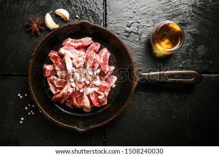 a juicy and juicy beef rib meat #1508240030