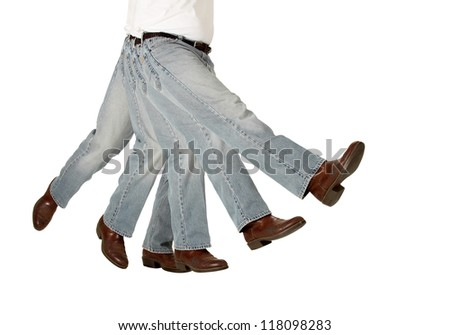 A kicking boot symbolizes being sacked or fired isolated on white