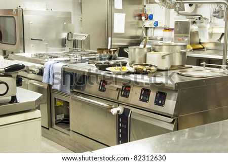 A kitchen in a restaurant