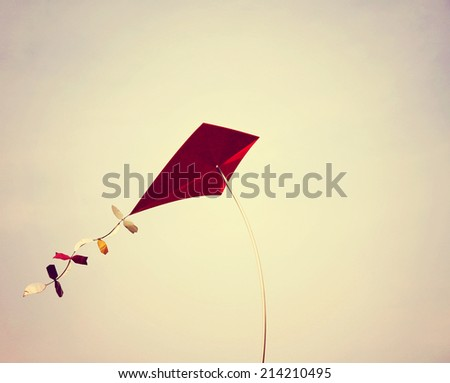 a kite toned with a retro...