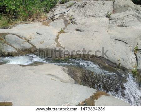 Aşıklar waterfalls from Dikili in Turkey.  Stok fotoğraf ©