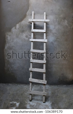 a ladder on the wall