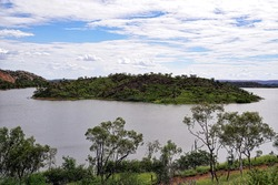 A lake in a recreation area out of Mount Isa in Queensland