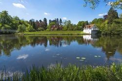 A lake in Virginia Water Park  in Surrey, UK