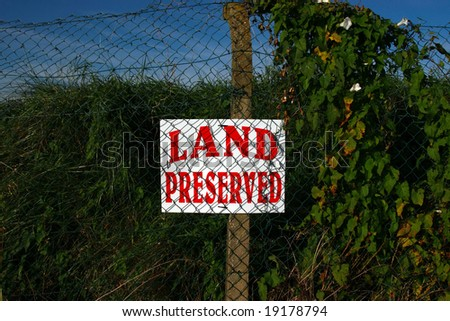 a land preserved sign on the ballybunion golf course ireland