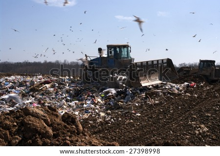 A landfill in the US