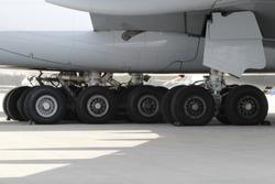 A380 landing gear close up