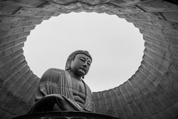 A landmark Buddha statue in Sapporo, Japan
