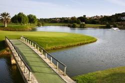 A Landscape of a golf course.