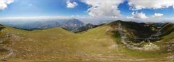A landscape of Koritnik mountain in Kosovo
