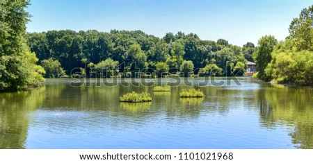 A landscape photo of a lake in Columbia, Maryland