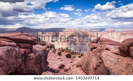 A landscape photograph of the Grand Canyon