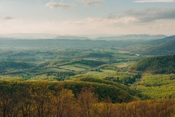 A landscape with trees and hills, Blue Ridge Parkway, Fancy Gap, Virginia
