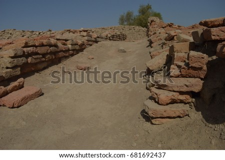 A lane in the ancient city of Mohenjodaro, in Pakistan's Sindh province.